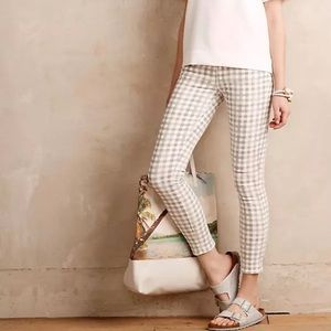 Paige Ankle Verdugo Gingham Checkered Pants